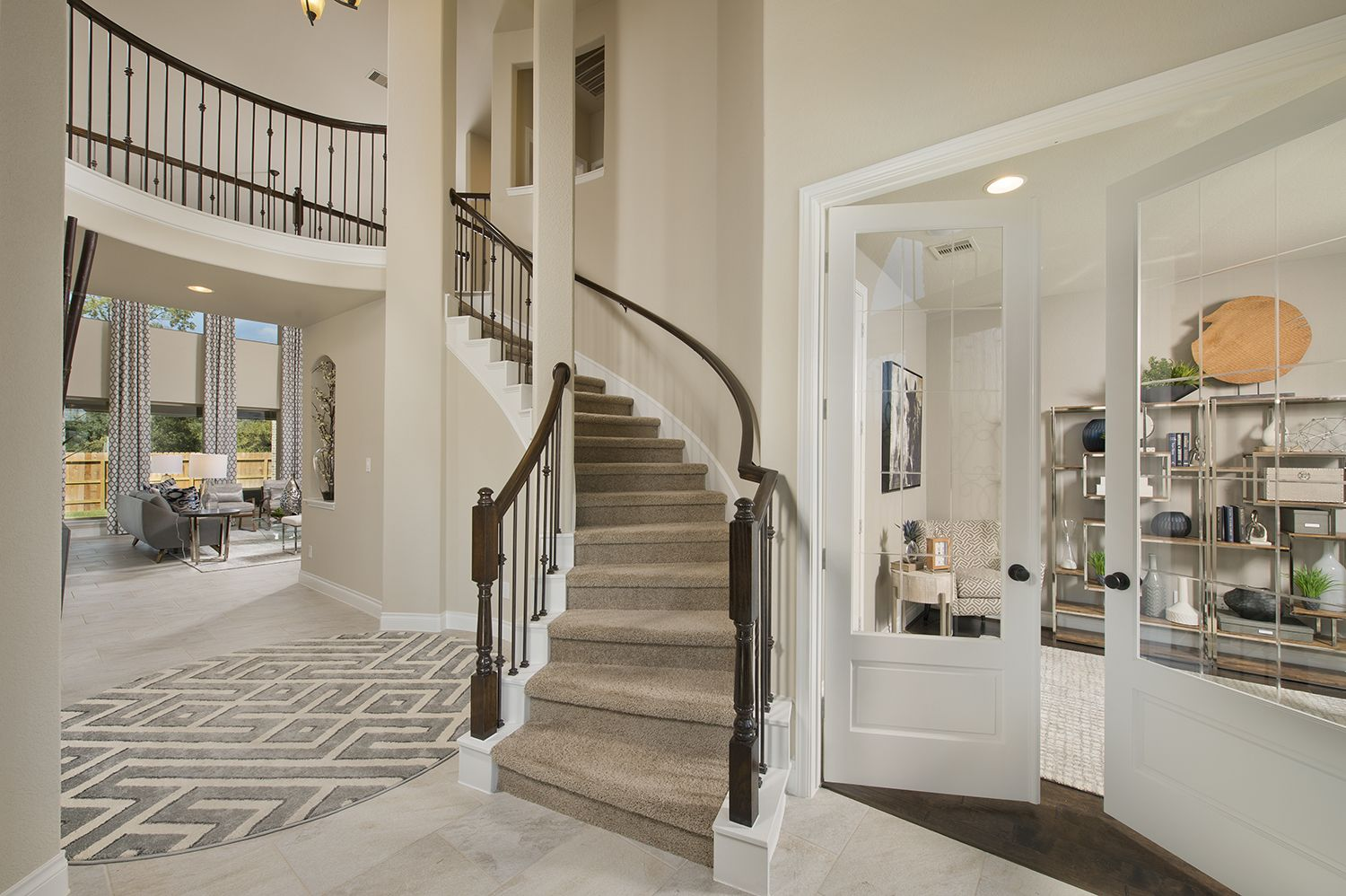 Model Home Foyer Pictures : Riverstone model home open daily 3 593 sq. ft. foyer & french