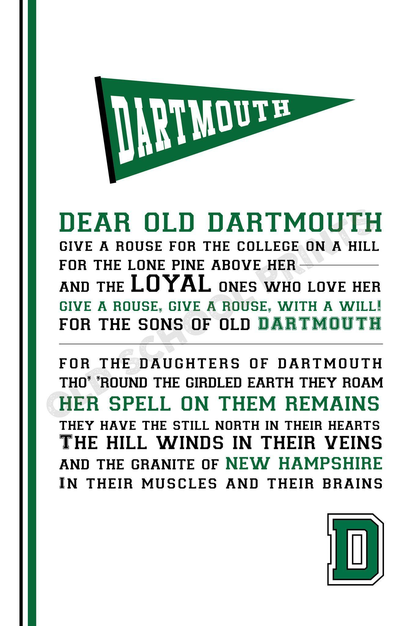 Dartmouth College Alma Mater Print