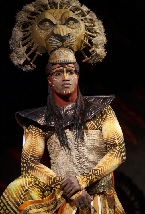 Kostuums Lion King.Mufasa Old Simba Lion King Musical Kostuum