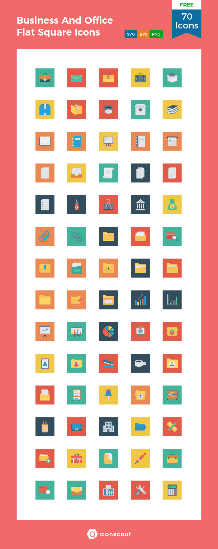 Download Business And Office Flat Square Icons Icon Pack Available In Svg Png Eps Ai Icon Fonts Icon Icon Pack Icon Font