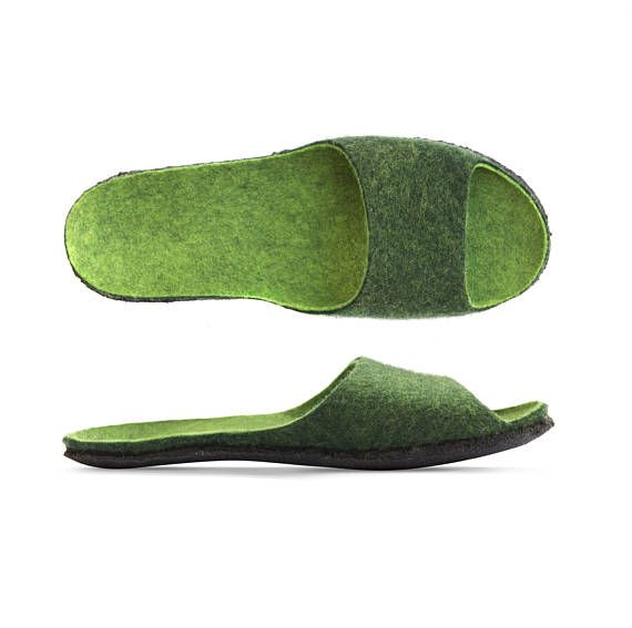 Photo of Items similar to felt sandals for women, colorful felt slippers, comfortable and stylisch, made of 100% wool on Etsy