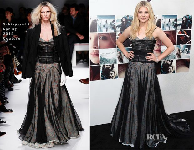 Chloe Grace Moretz In Schiaparelli Couture – 'If I Stay' LA Premiere