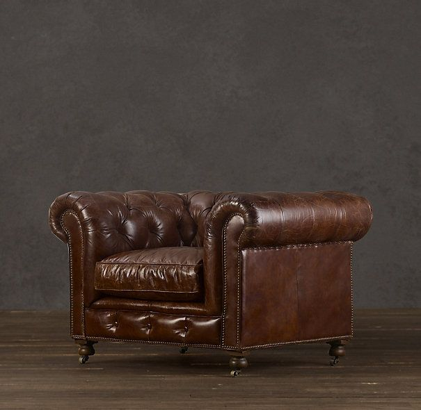 Merveilleux Kensington Leather Chair #swag