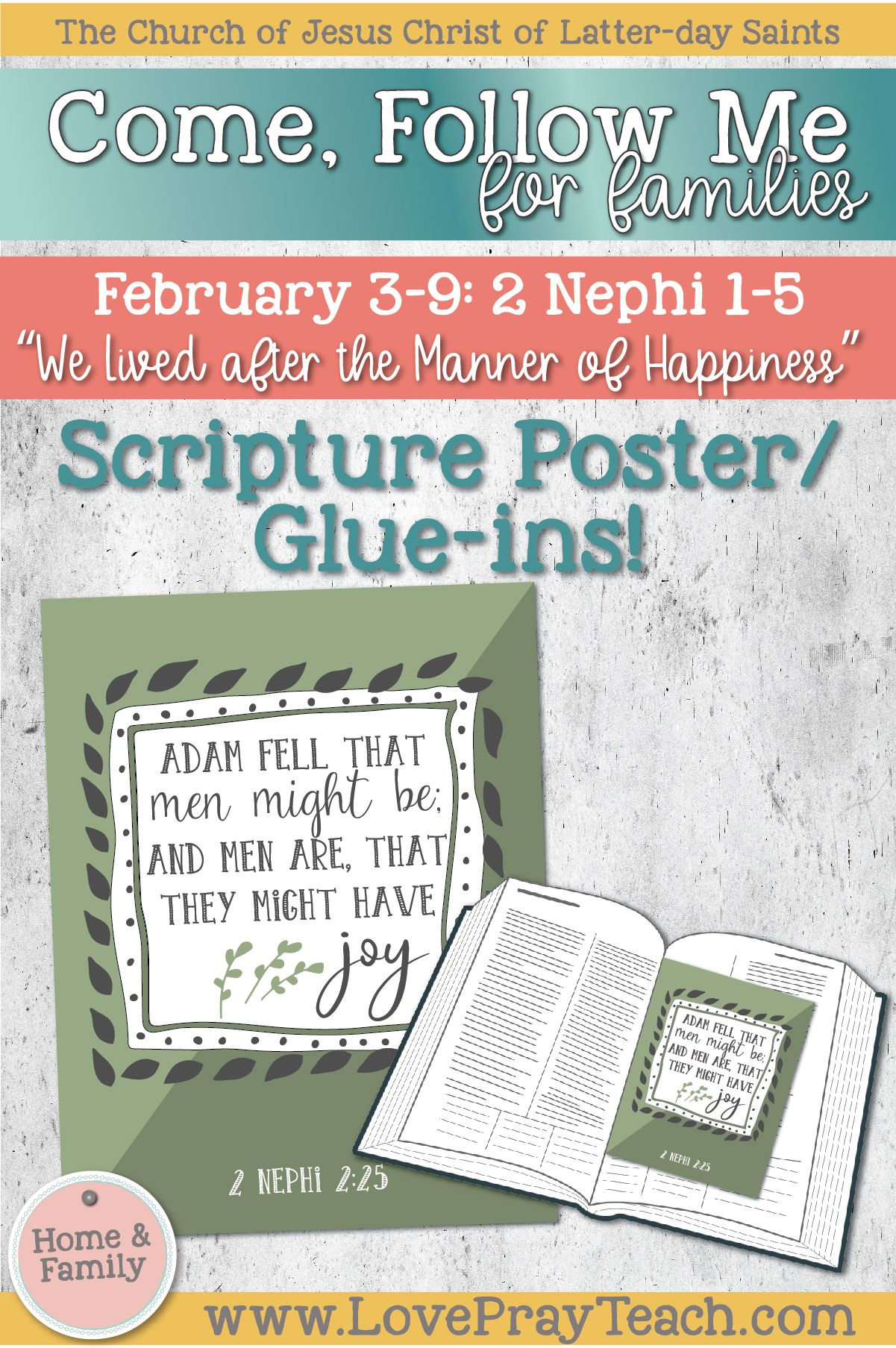 2 Nephi 2 25 Scripture Poster And Scripture Glue In Cards