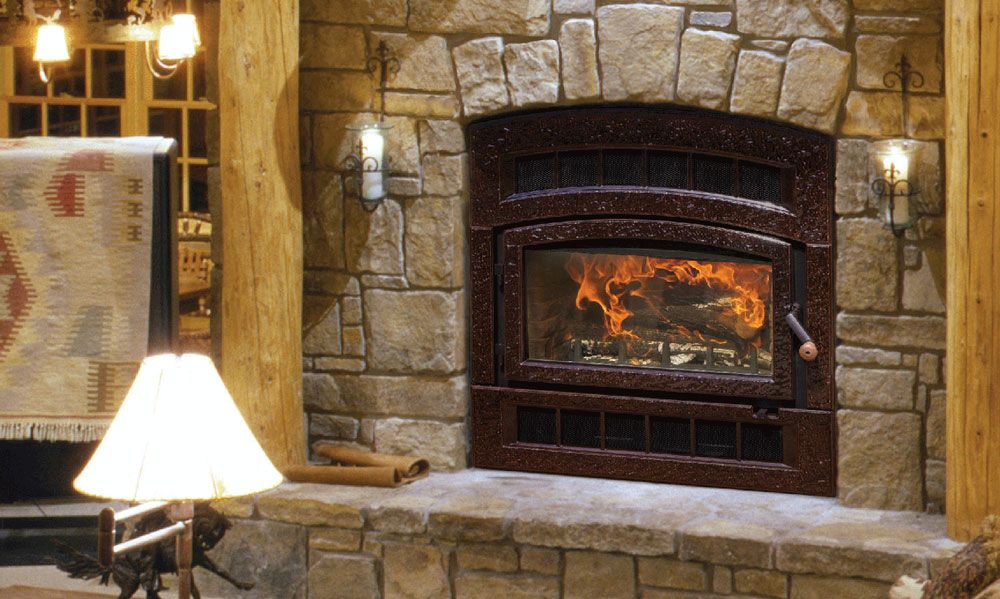 Wfp75 Montgomery With Images Wood Fireplace Hearthstone
