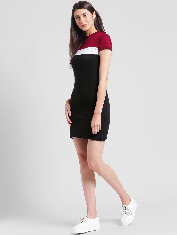43363201fd9b32 Rigo Women Black Colourblocked T-shirt Dress Get upto 70% off on Women s  Dresses Get it for RS.599 only DISCOUNT -40%  Women  black  dress  fashion   wear ...