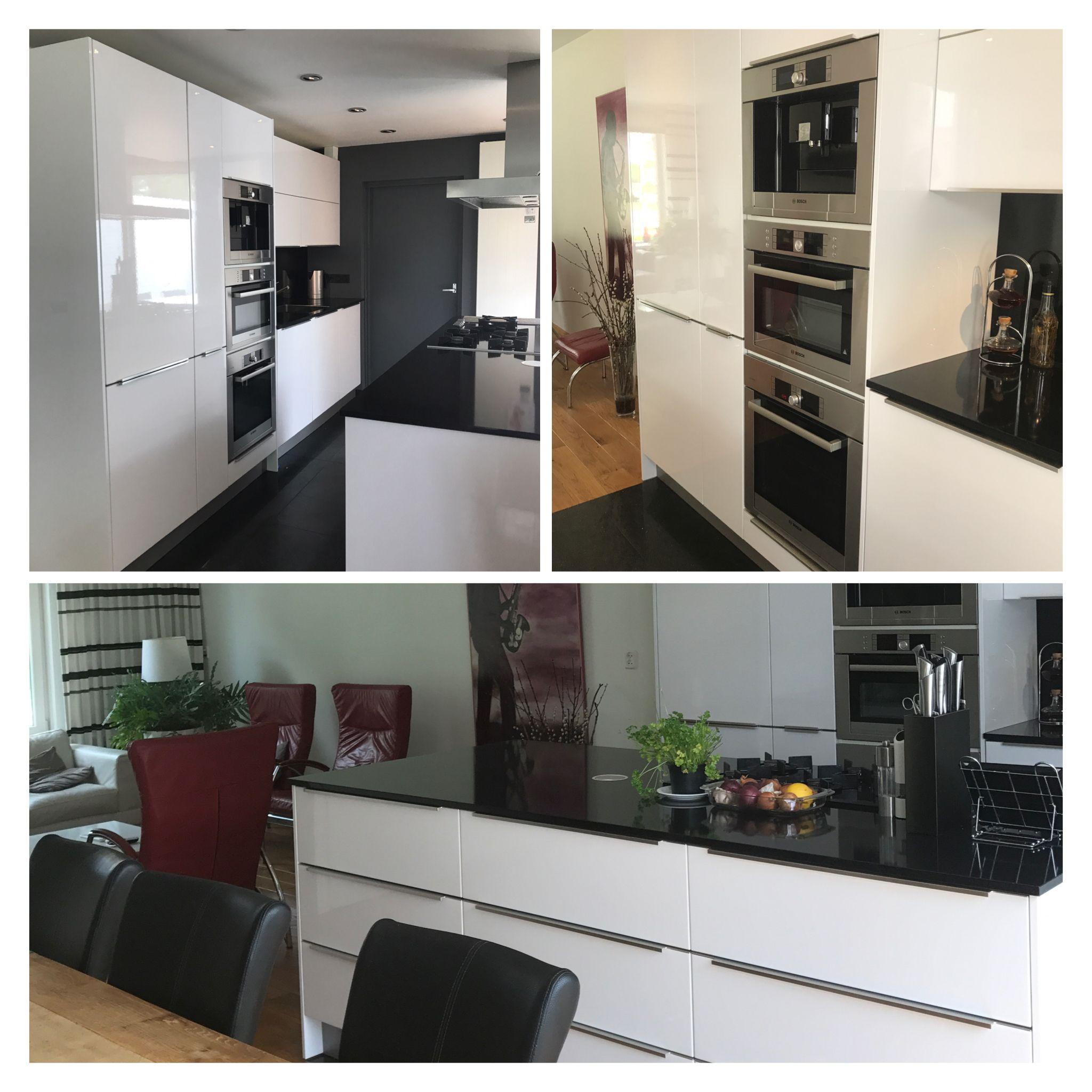 Loftgevoel in een rijtjeshuis Witte keuken met 3 apparaten boven ...