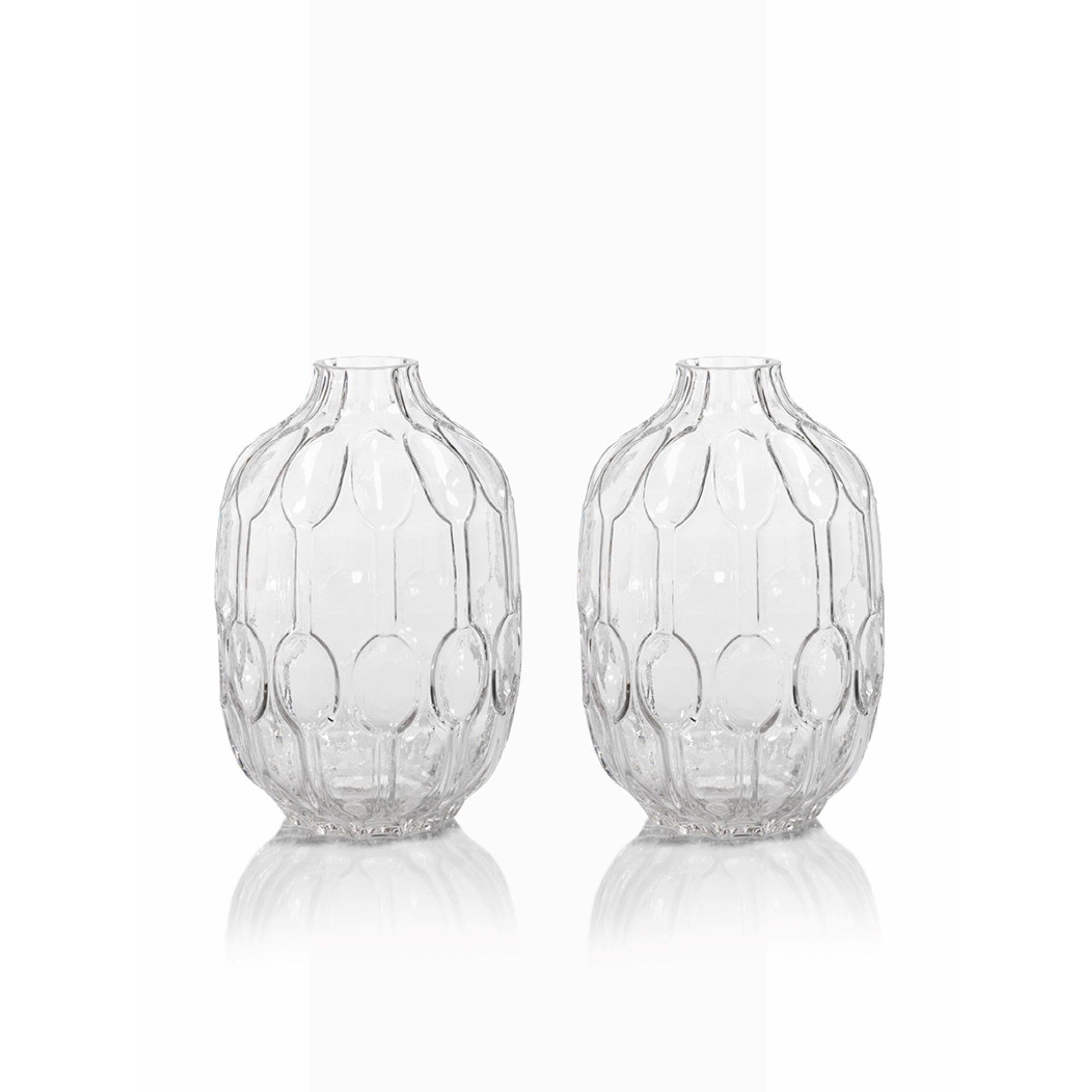 Zodax 7 inch margaux clear glass vase set of 2 clear glass zodax 7 inch margaux clear glass vase set of 2 floridaeventfo Image collections