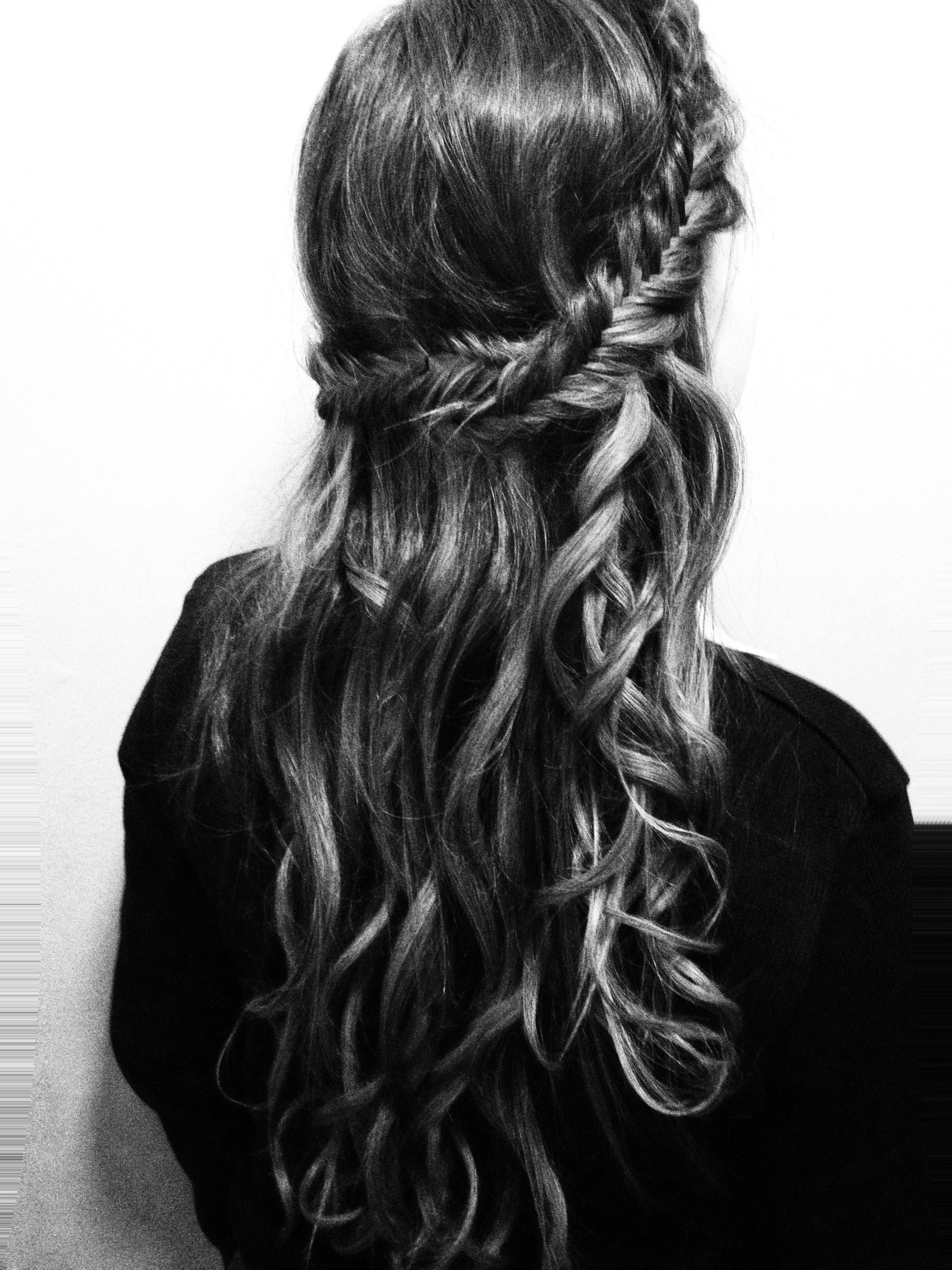 Fishtail Braid With Curls
