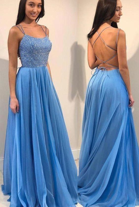Lace-up zurück langes Abendkleid mit Perlen, beliebte Abendkleid, Mode Winter …   – vestido defin de año