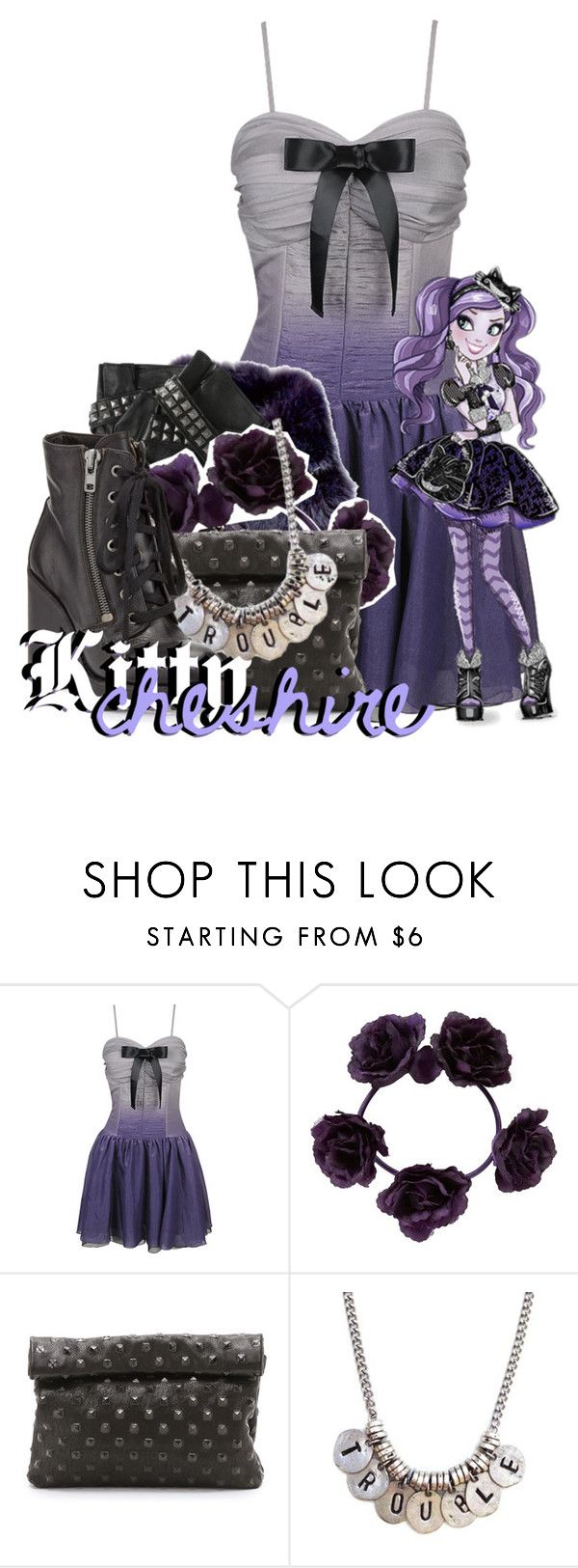 """""""Kitty Cheshire from Ever After High"""" by magykgirlz ❤ liked on Polyvore featuring Forever 21, Loewe, Karl Lagerfeld, Marie Turnor, Ash, women's clothing, women, female, woman and misses"""