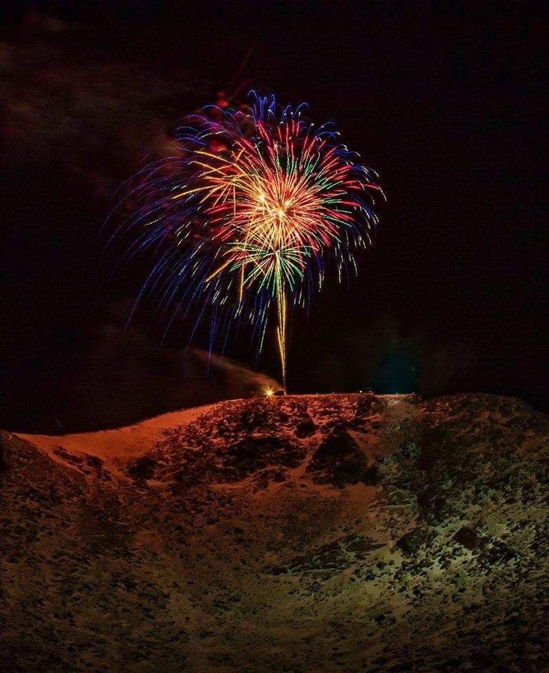 Pikes Peak Annual New Years Eve Fireworks Display produced