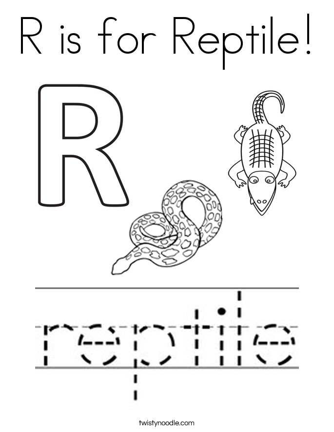 Reptiles Coloring Pages Colouring For Pretty Reptile Twisty Noodle