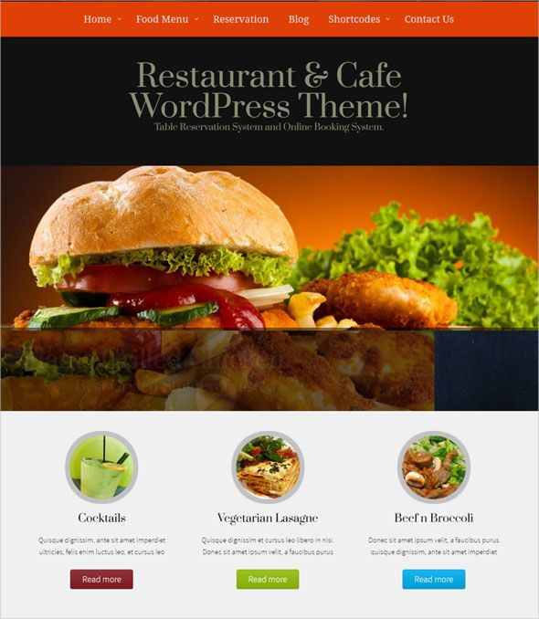 100 restaurant responsive wordpress themes in 2018 forumfinder Choice Image