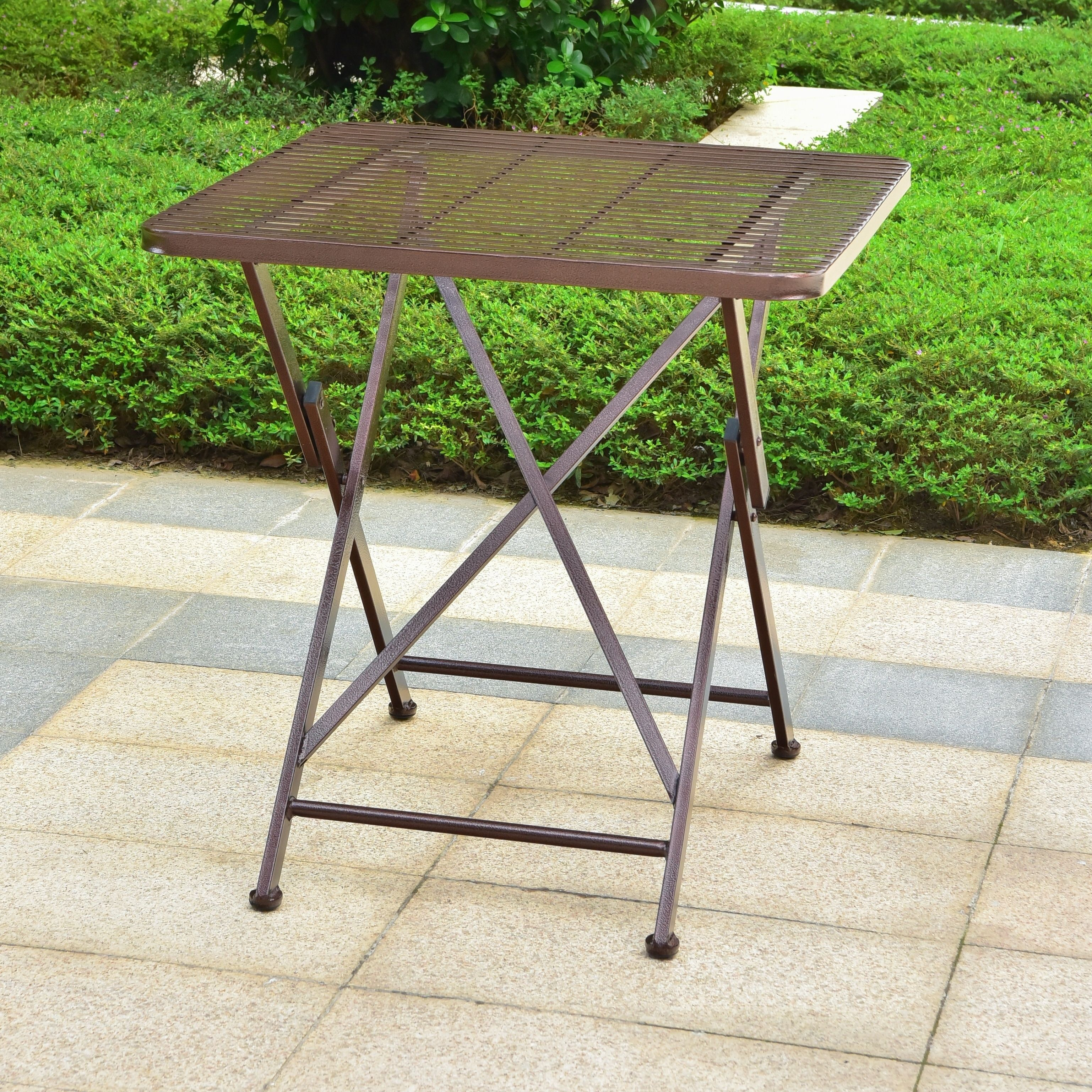 International caravan mandalay inch folding patio bistro table