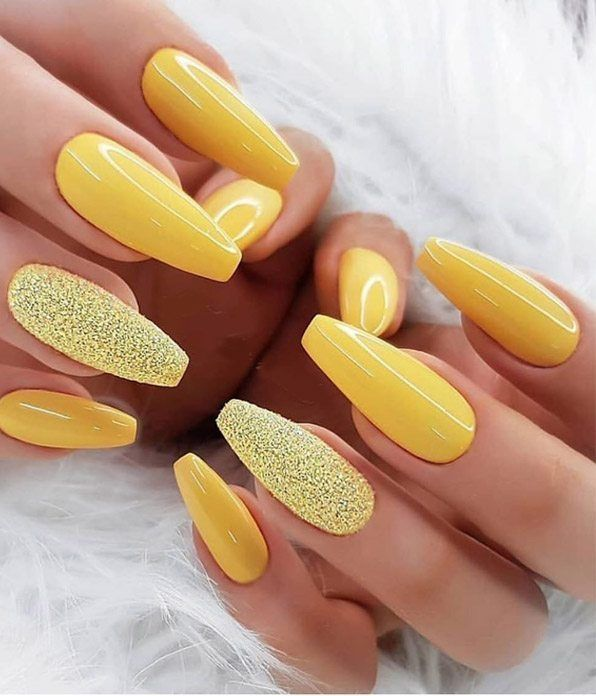 Best 2019 Yellow Nails Trend for Summer Season | Voguetypes