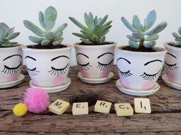 idée cadeau pot de départ Pot de départ mini succulentes pour dire Merci | Ideas for the  idée cadeau pot de départ