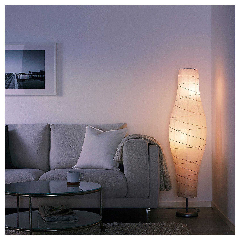 Amazon.com: Ikea 802.135.97 Dudero Floor Lamp, Silver-Color/White ...