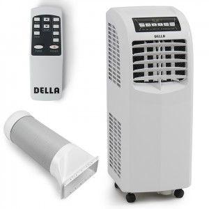 Della 8 000 Btu Portable Air Conditioner Cooling Fan Dehumidifier A C Remote Control Windo Portable Air Conditioner Air Conditioner Portable Air Conditioners