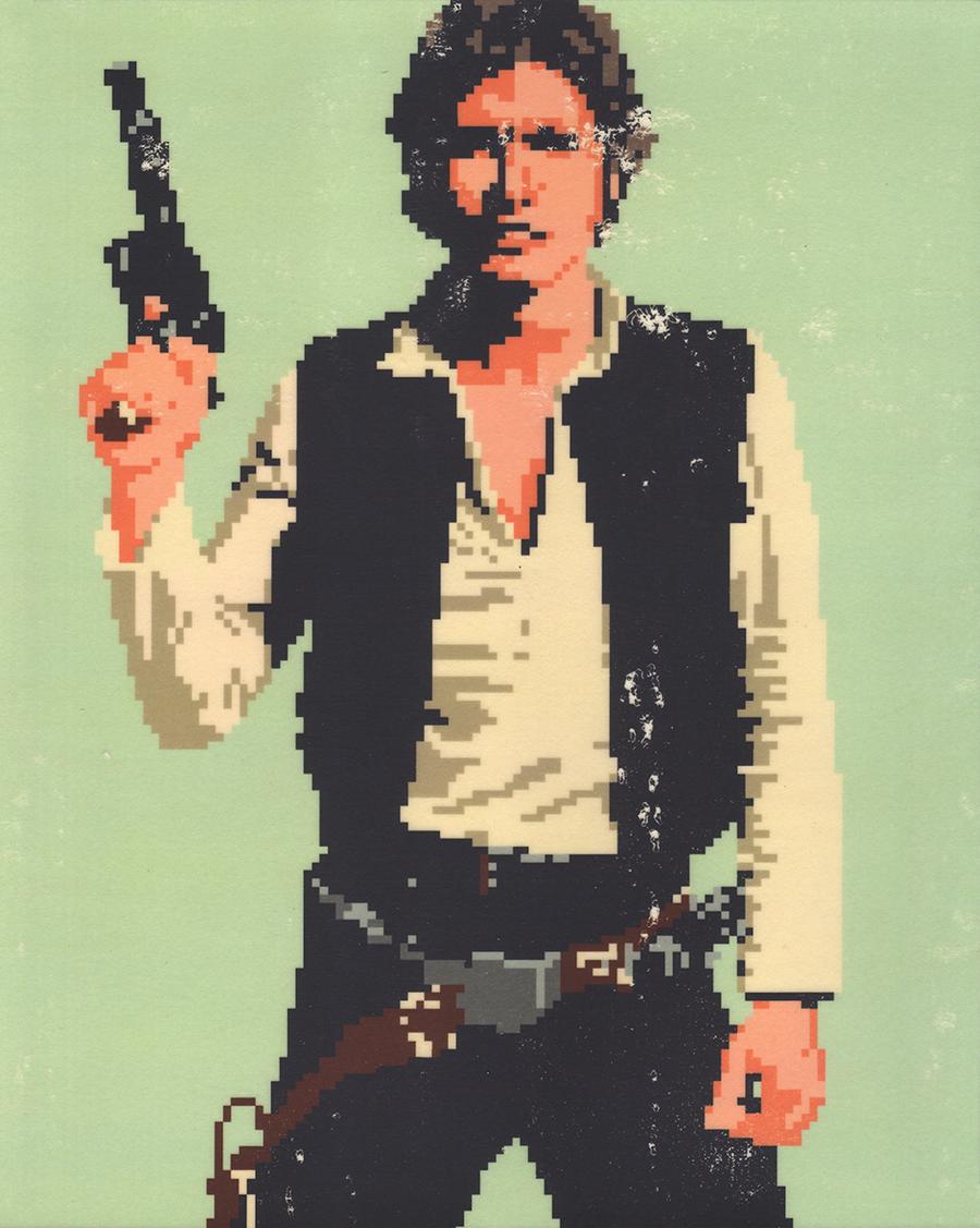 Han Solo Hans Solo Pixel Image Pixel Art