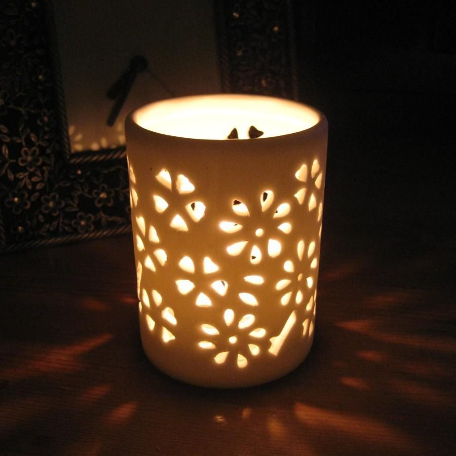 ceramic candle holders | Shearer Candles - Ceramic Pierced ...