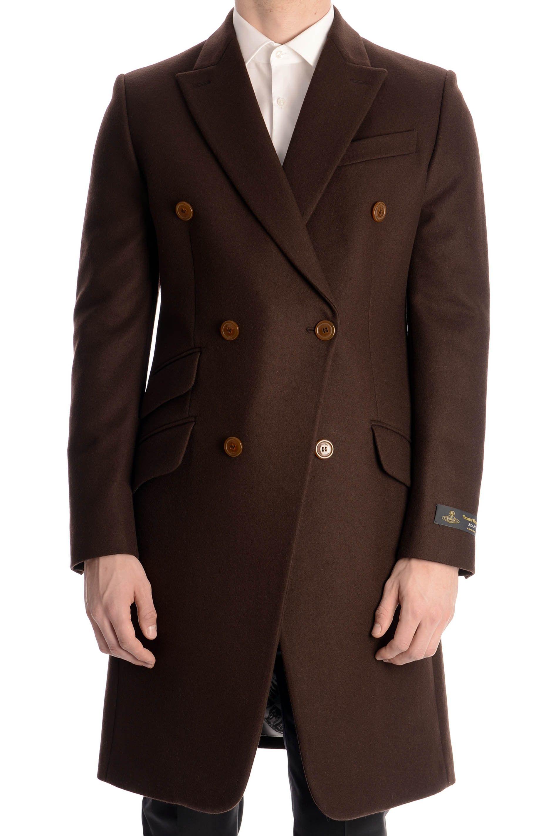 30f2a9a4c87f Vivienne Westwood Men s Double Breasted Long Coat » Men s Designer Clothing    Brands