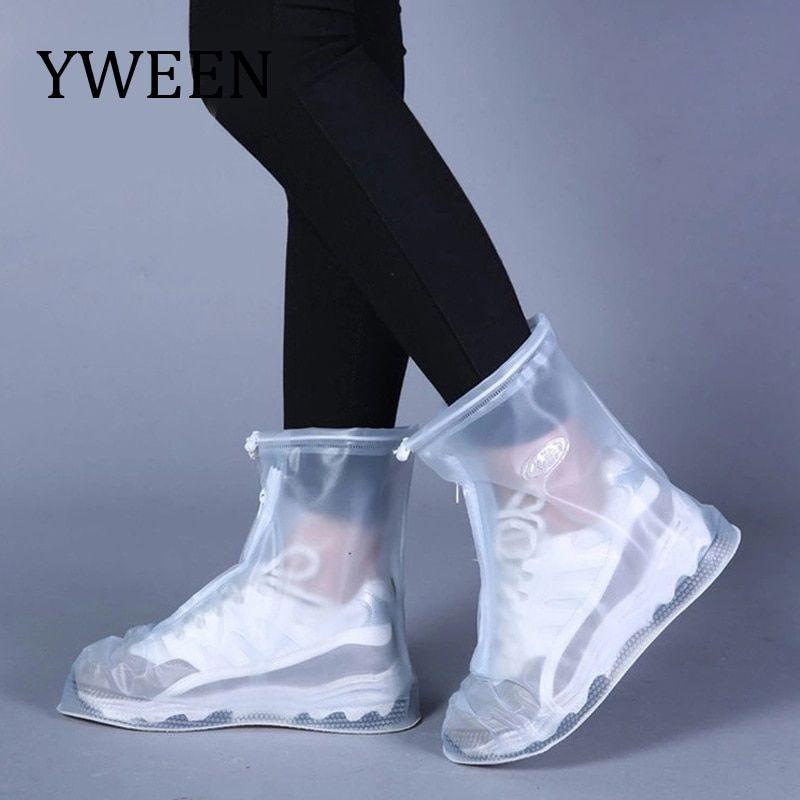 Unisex Chic Rain Shoes Cover Boots Reusable Waterproof Non Slip Rain Cover