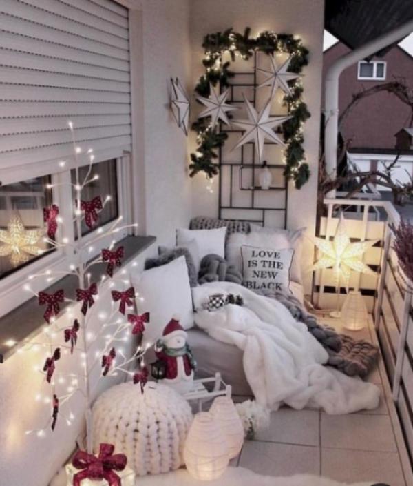Weihnachtsdeko für Balkon bringt festliche Stimmung mit - Fresh Ideen für das Interieur, Dekoration und Landschaft