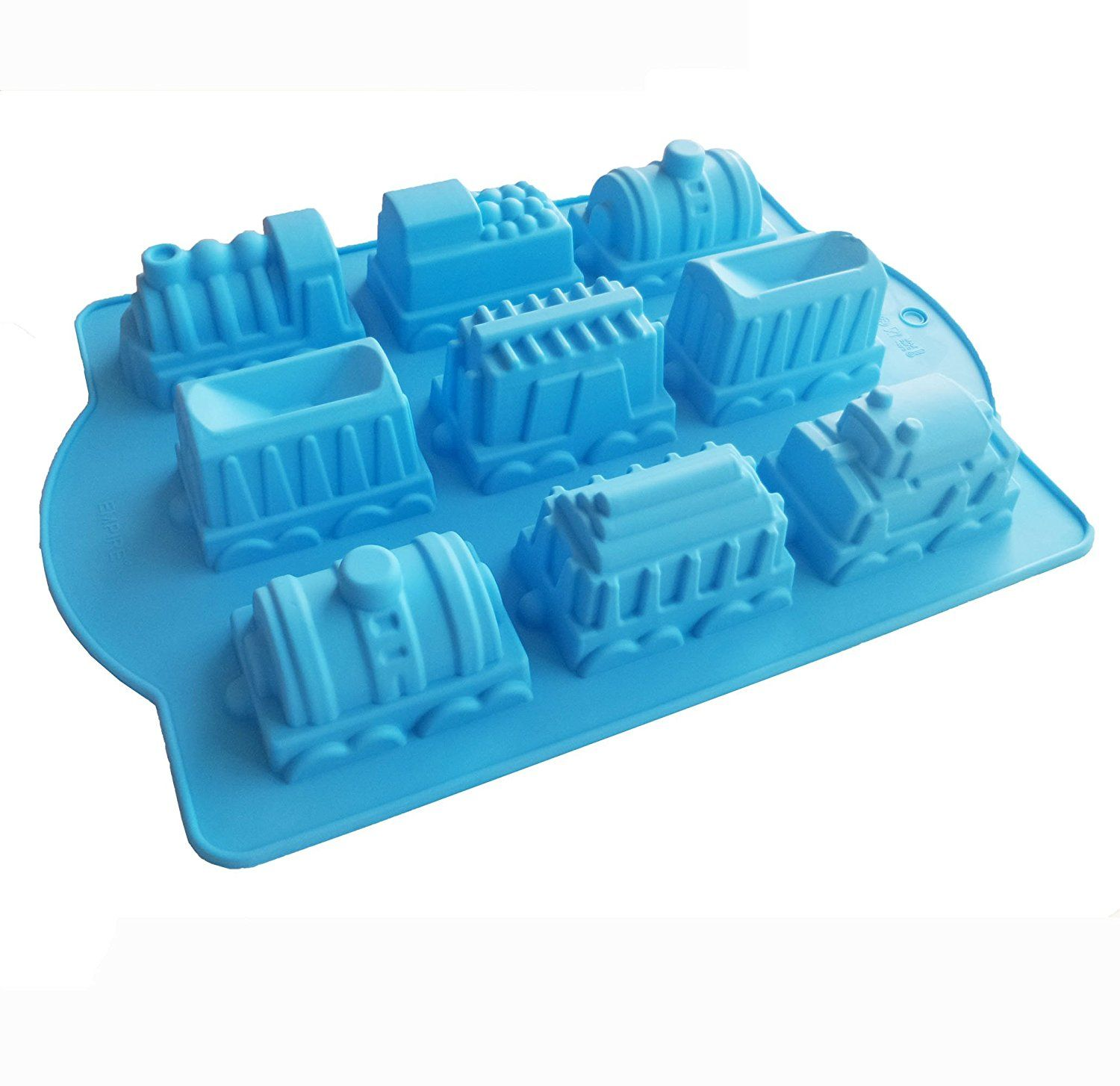 Yunko 9 Cavity Train Shapesilicone Birthday Holiday Cake Pan Cake Mould for Muffins, Cupcakes, Jello, Desserts, Crafts Blue -- See this awesome image  : Small Pastry Molds
