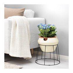 IKEA - IKEA PS 2017, Selvvandingskrukke, 3 dele, Selvvandingsindsatsen holder jorden fugtig.Den yderste krukke er vandtæt, fordi den er glaseret både udvendigt og indvendigt.Sikrer, at dine planter trives, selvom du ikke kan vande dem jævnligt.Hvis du har planter i dit hjem, får du en bedre luftkvalitet indenfor, fordi planter afgiver ilt og fugt.