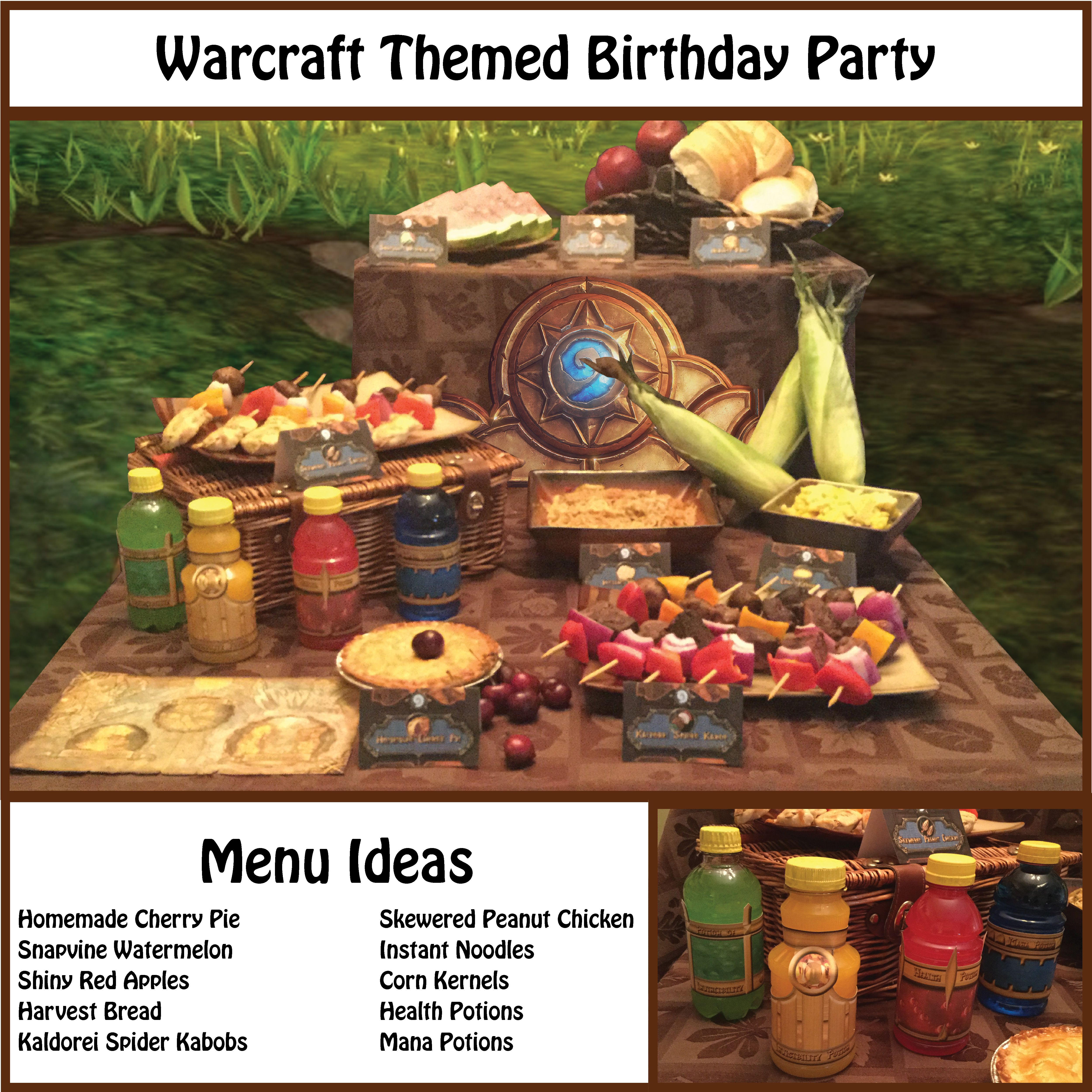 World of Warcraft Themed Food Tents   Edgar's birthday in