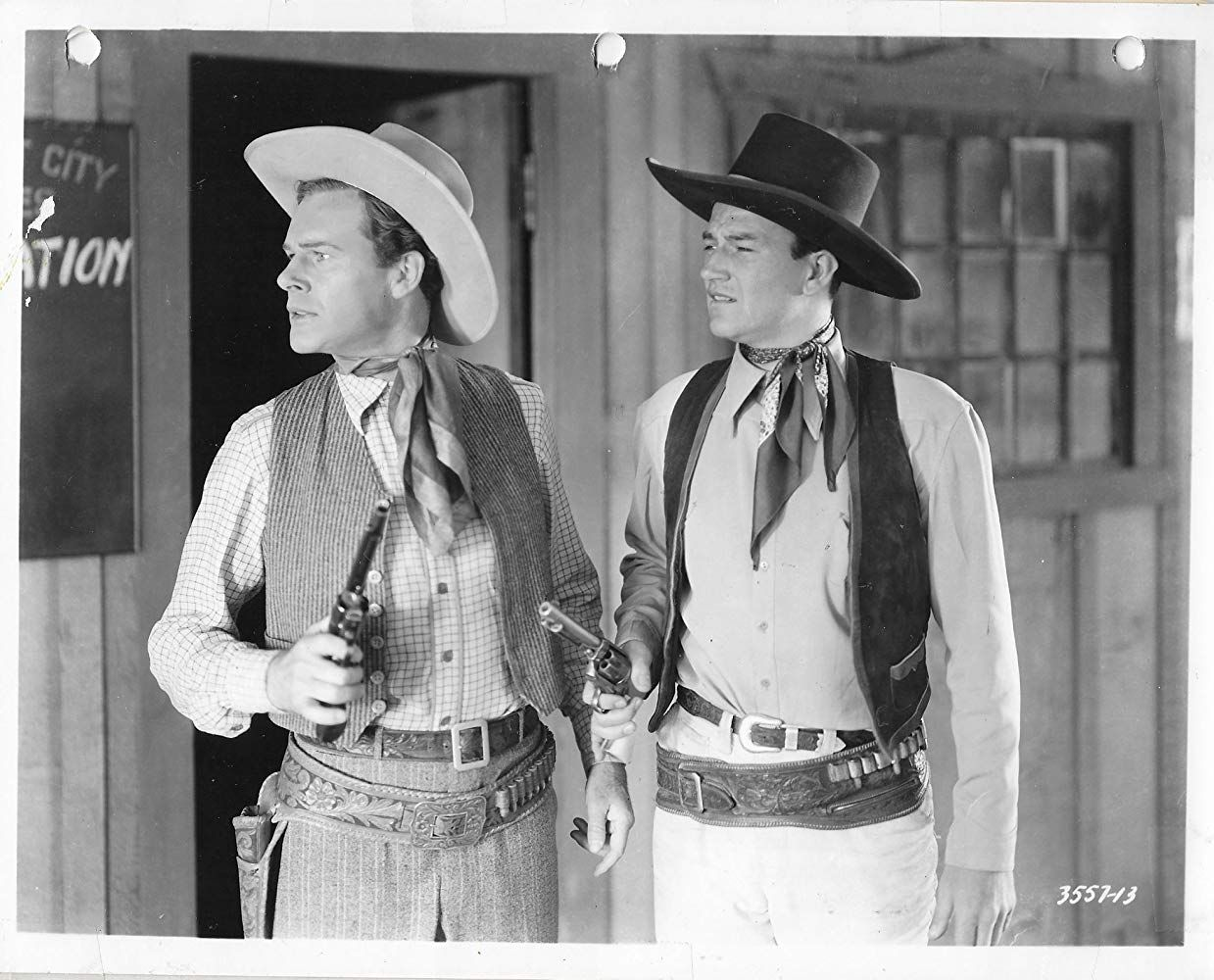 John Wayne And Lane Chandler In Winds Of The Wasteland 1936