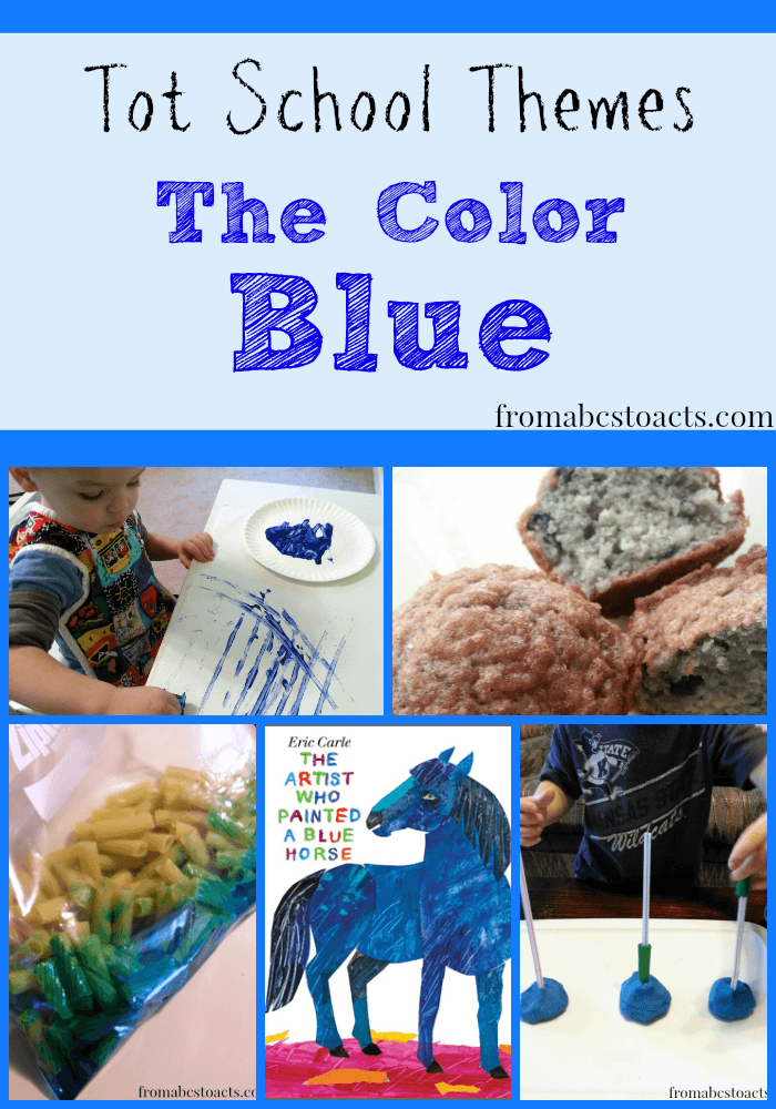 Blue Things Colouring Page Preschool color activities