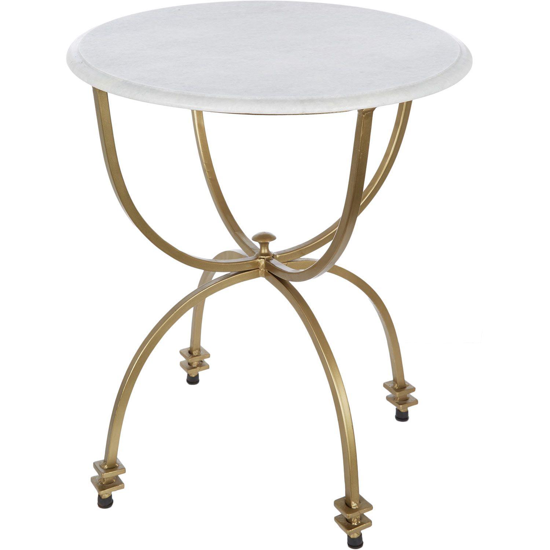 White Marble Iron Side Table Tk Maxx