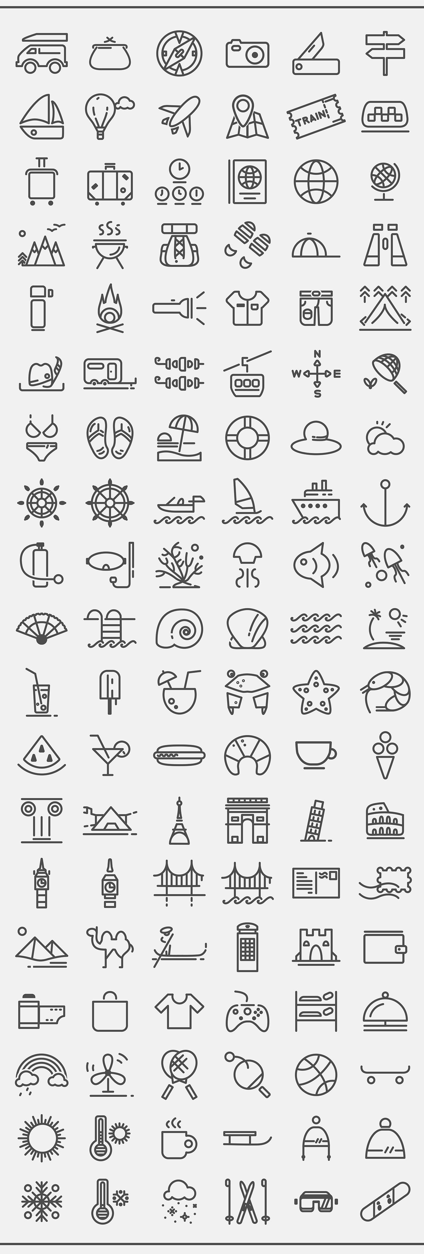 Download: Travelling Icon Set Icons make the world go round. Literally. These days you can pretty much do anything with just your cell phone and a few familiar icons. Shop, get directions, play music, you name it. Whether you're building a mobile app or a simple user interface for your website, icons are a necessity. Get for fr