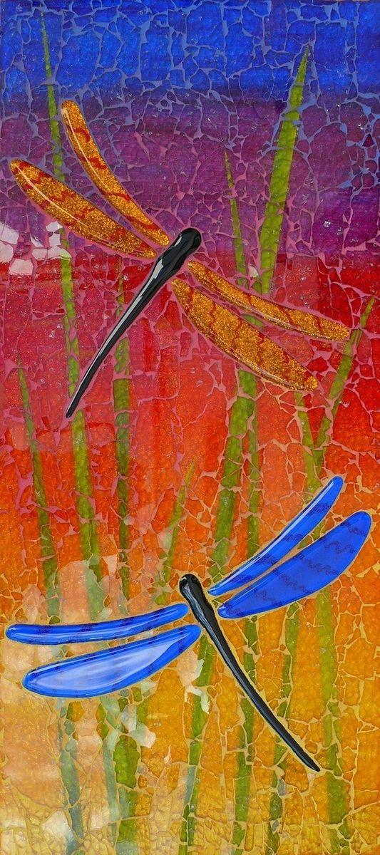 Arte personalizado Shattered mosaicos de vidrio por Kathy Richardson Diseños | CustomMade.com