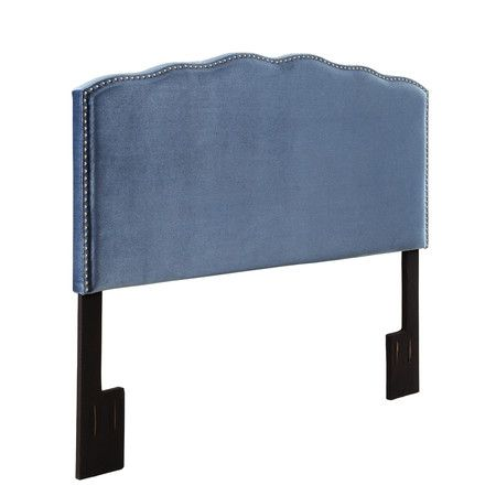 Add this velvet headboard to your master suite or guest room for a touch of classic style.Product: HeadboardConstruct...