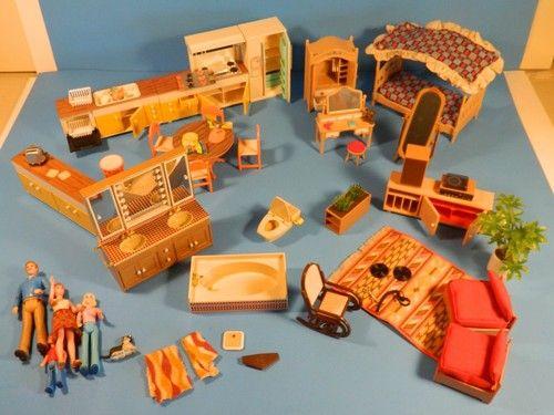 Vintage Toy Tomy Dollhouse Japan 1970s Lot Of 50 Dolls Furniture | EBay