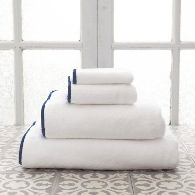 Pine Cone Hill Signature Banded Towel Indigo - SBWIWC