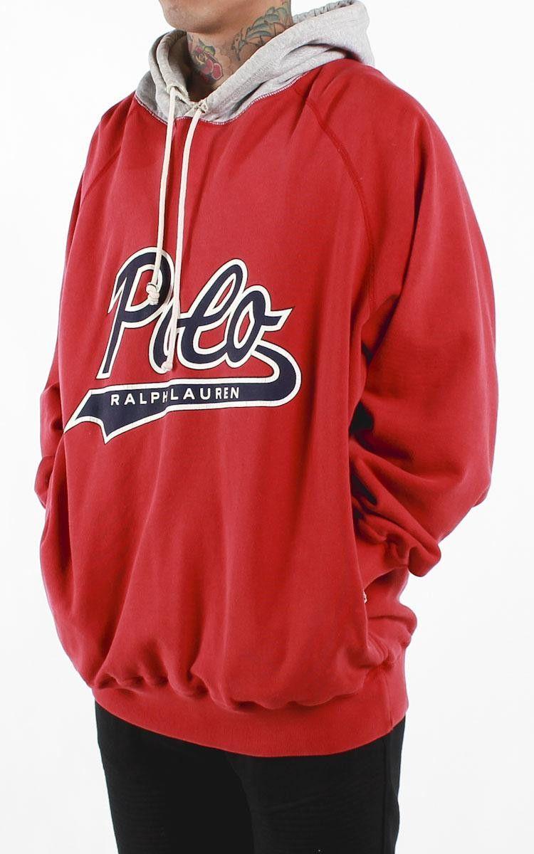 As Polo In Sweatshirt Xl Lauren Vintage – Script F Hooded Sz Ralph j4ARL5