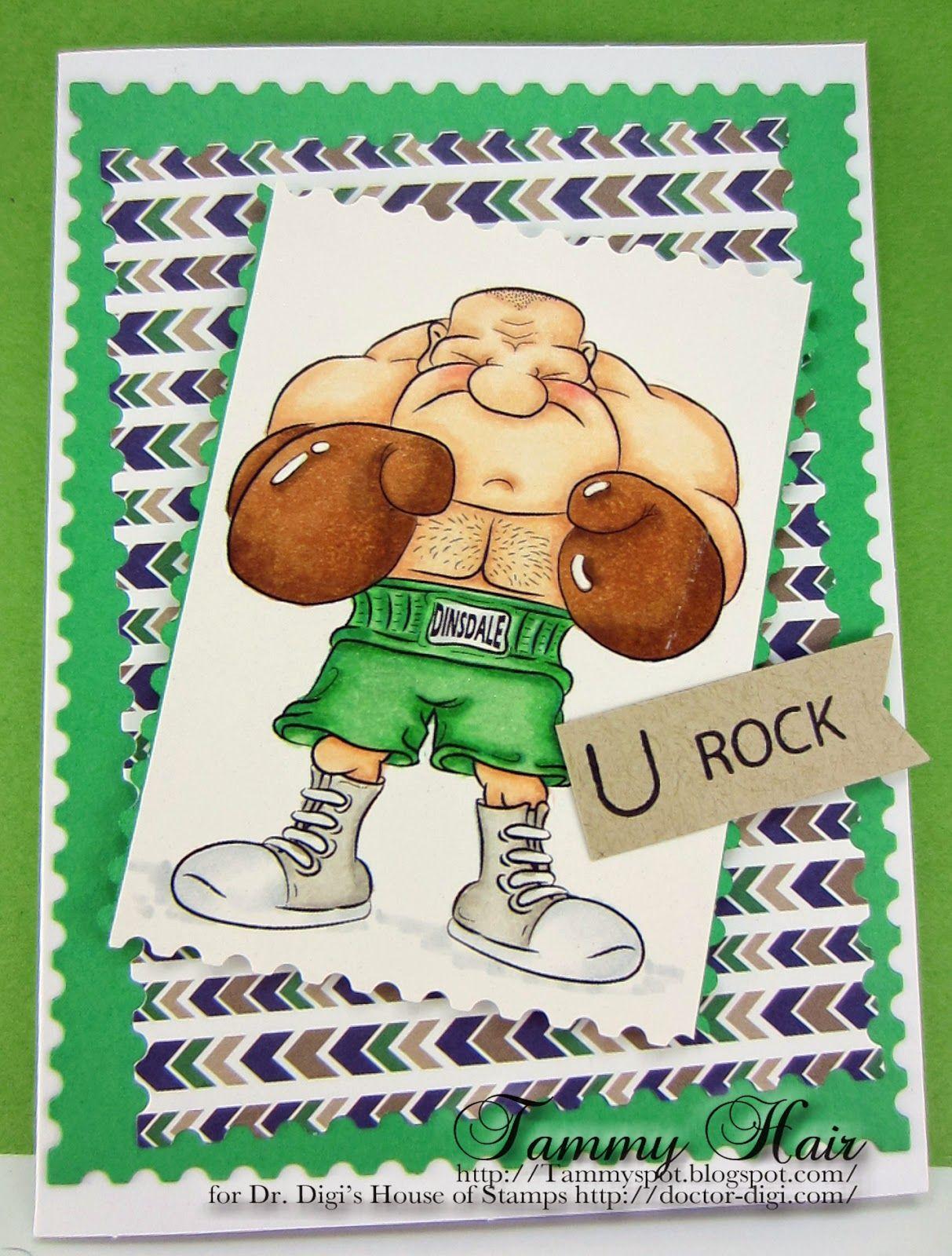"""""""Rocky"""" digi stamp http://www.doctor-digi.com/rocky Card by Tammy http://tammy-tammyspot.blogspot.co.uk/"""