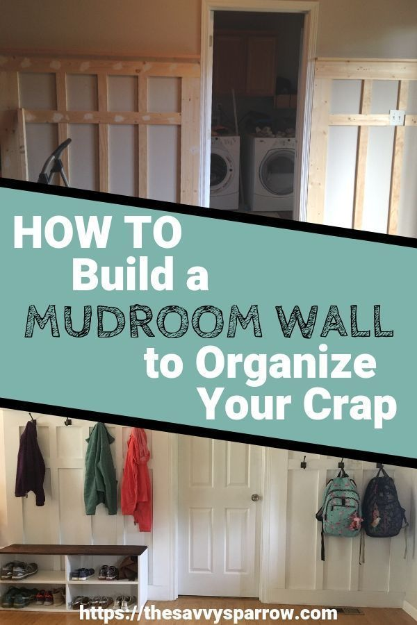 Need mudroom ideas for your entryway? Learn how to turn a blank wall into a DIY mudroom wall for storage and organization.  This farmhouse mudroom idea is perfect if you only have a small wall to use for your DIY mudroom and you don't have room to build out lockers.  Step by step tutorial with pictures!