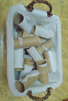 A mom collects leftover toilet paper tubes. What they become? I am SO making this gift idea!