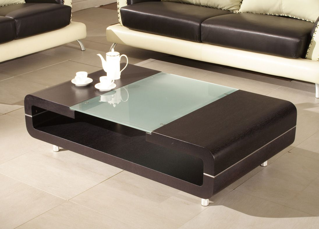 Gt Modern Wooden Center Table Glass Top In Modern Wooden Table