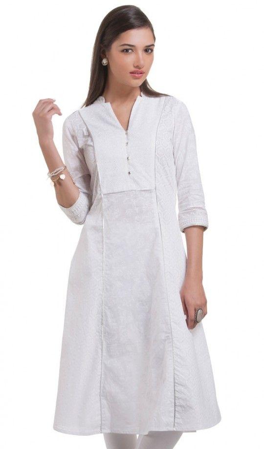 a1c9bafad16 White cotton kurti
