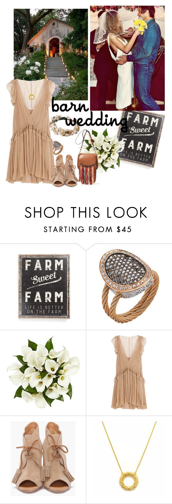 """""""Best Dressed Guest: Barn Weddings"""" by likeastarrr ❤ liked on Polyvore featuring Primitives By Kathy, Alor, Chloé, Dsquared2, bestdressedguest and barnwedding"""