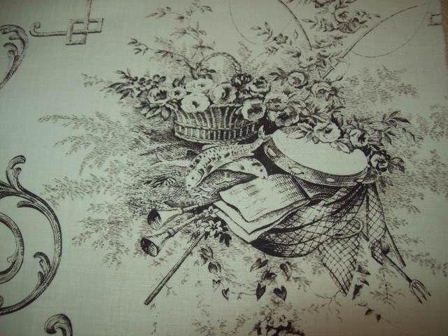 TRES BEAU TISSU IMPRESSIONS TOILE DE JOUY