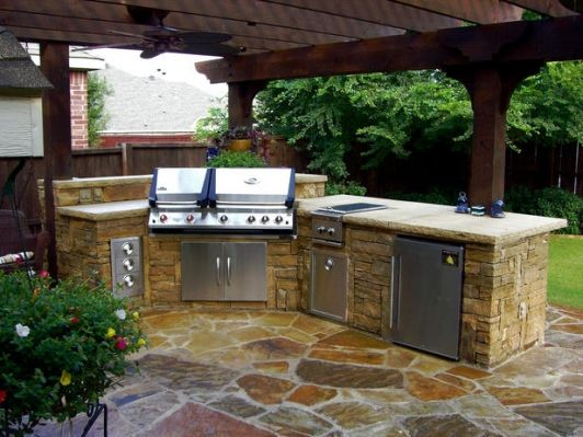 Outdoor Stone Kitchen Backyard Kitchen Outdoor Kitchen Plans Outdoor Kitchen Countertops