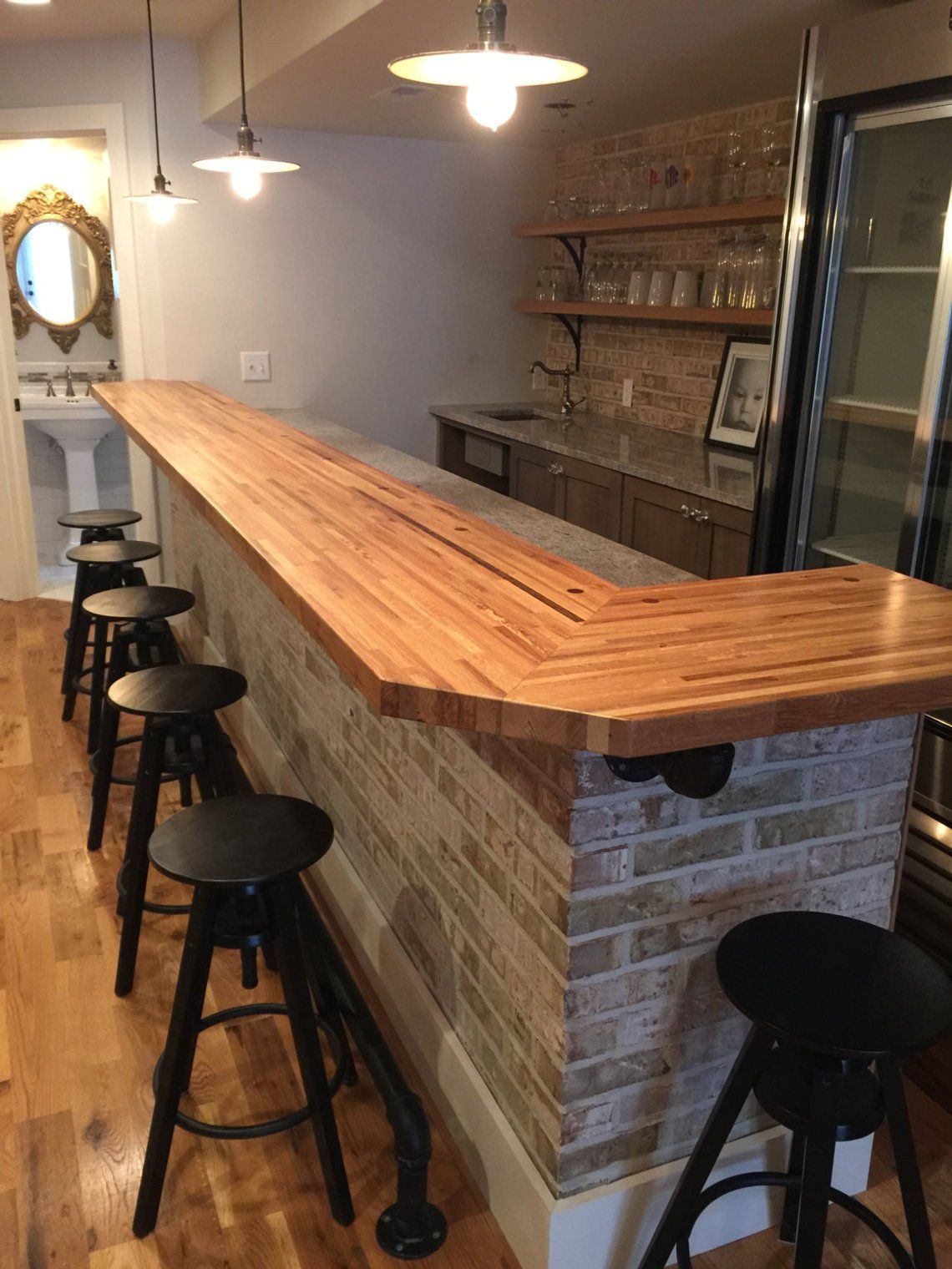 Butcher Block Countertops Etsy Bars For Home Home Bar Designs