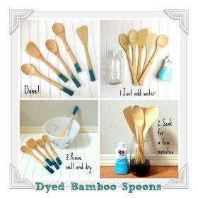 How to Dye Bamboo Wood Spoons
